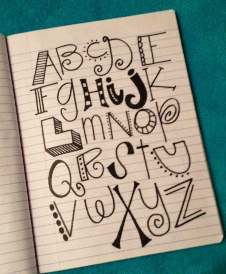 Cool Writing Styles Alphabet