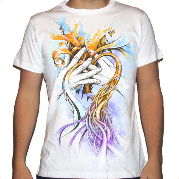 Mens T Shirt Abstract Design