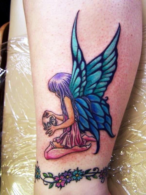 277e24e92 Adorable Fairy Tattoo Designs (19)