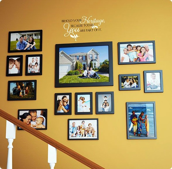 Nice Ideas For Hanging Family Pictures On Wall Frieze - Wall ...