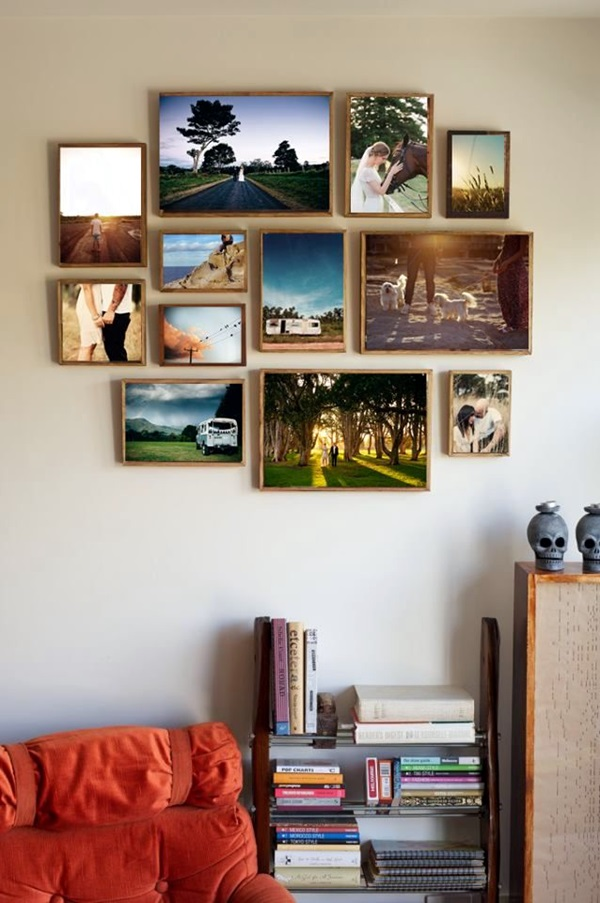 40 best family picture wall decoration ideas - Photo decoration on wall ...