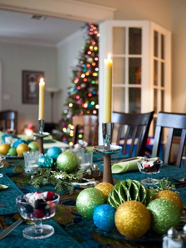 40 christmas table decoration ideas. Black Bedroom Furniture Sets. Home Design Ideas