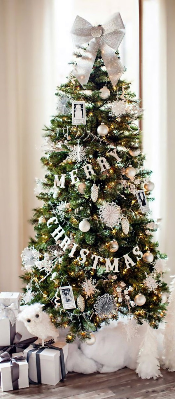 40 christmas tree decorating ideas for Decorating 10ft christmas tree