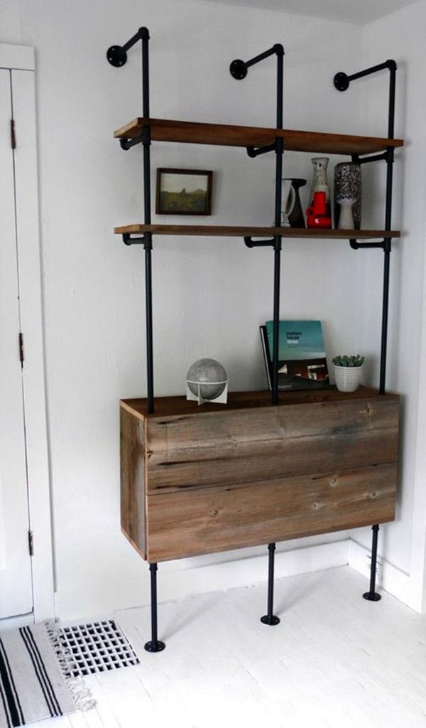 Charming Pipe Furniture Part - 9: Mechanical Plumbing Pipe Furniture Ideas (12)