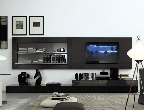 40 unique tv wall unit setup ideas bored art. Black Bedroom Furniture Sets. Home Design Ideas