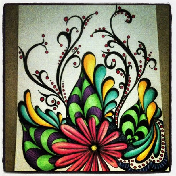 Works Of Art Created Using Marker Pens - Bored Art