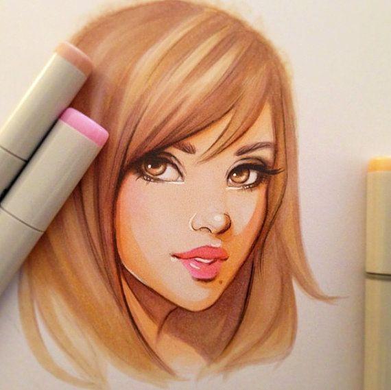 Works Of Art Created Using Marker Pens - Bored Art