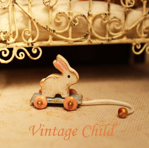 Dollhouse miniature pull toy