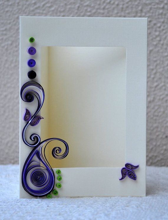 Simple quilling designs for photo frames for Simple paper quilling designs