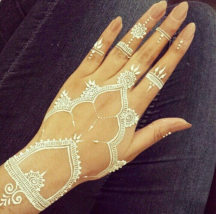 Very Attractive White Henna Designs Bored Art