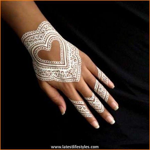 Very Attractive White Henna Designs Bored Art