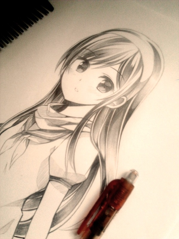 Amazing anime drawings and manga faces 3