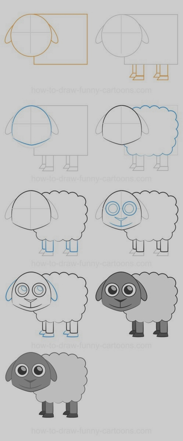 how to draw different things step by step