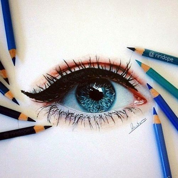how to draw an eye 40 amazing tutorials and examples. Black Bedroom Furniture Sets. Home Design Ideas