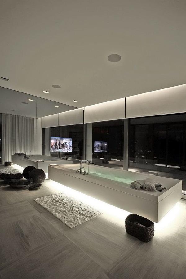 40 Luxury High End Style Bathroom Designs - Bored Art
