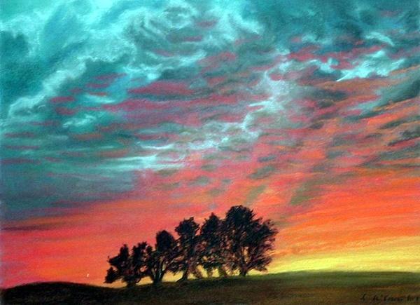 40 easy pastel paintings for beginners bored art for Easy watercolor paintings for beginners