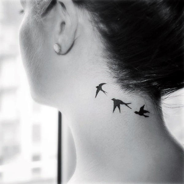 Small Neck Tattoo: 40 Small And Sexy Neck Tattoos For 2016