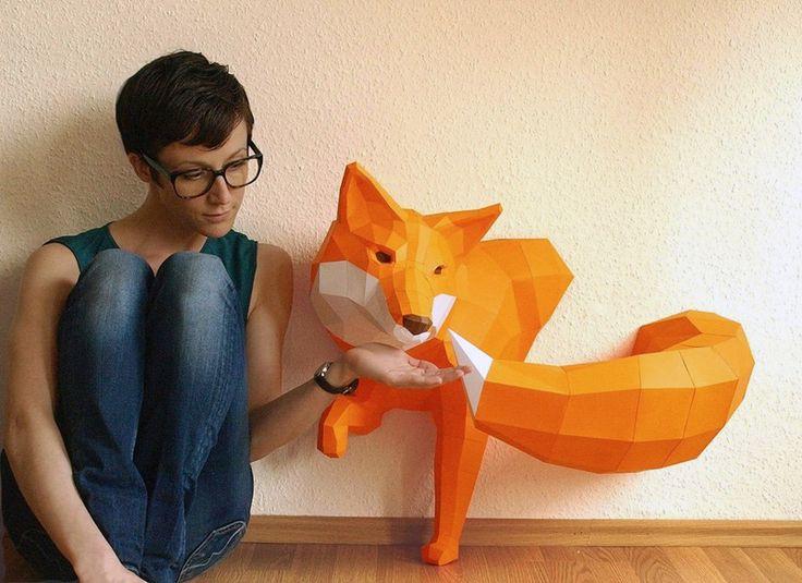Как сделать из бумаги цветной животных