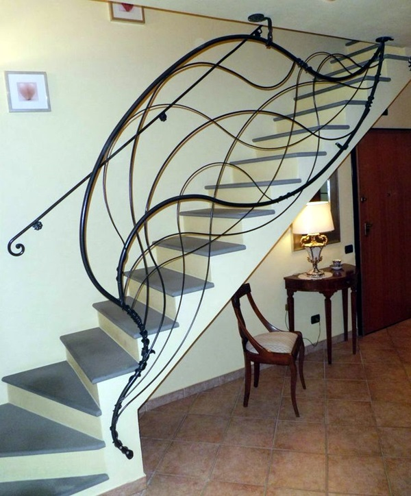 40 Amazing Staircases Details That Will Inspire You: 40 Amazing Grill Designs For Stairs, Balcony And Windows