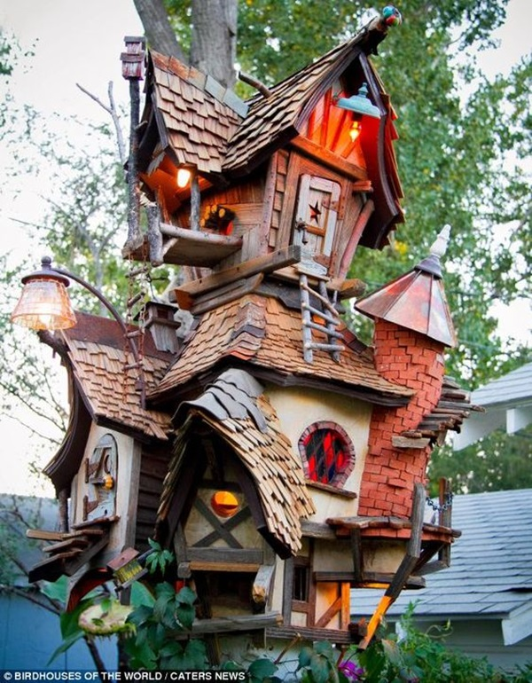 Beautiful Bird House Designs You Will Fall in Love with (15)