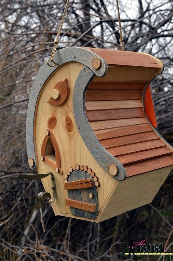 Beautiful Bird House Designs You Will Fall in Love with (23)