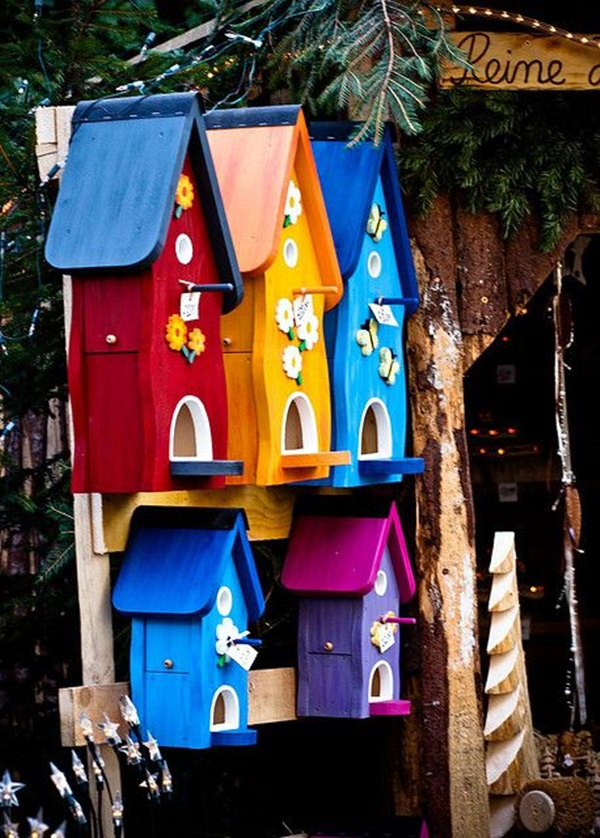 Beautiful Bird House Designs You Will Fall in Love with (30)