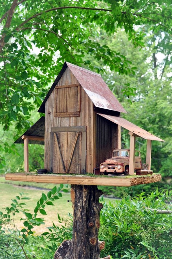 40 beautiful bird house designs you will fall in love with for Bird home decor