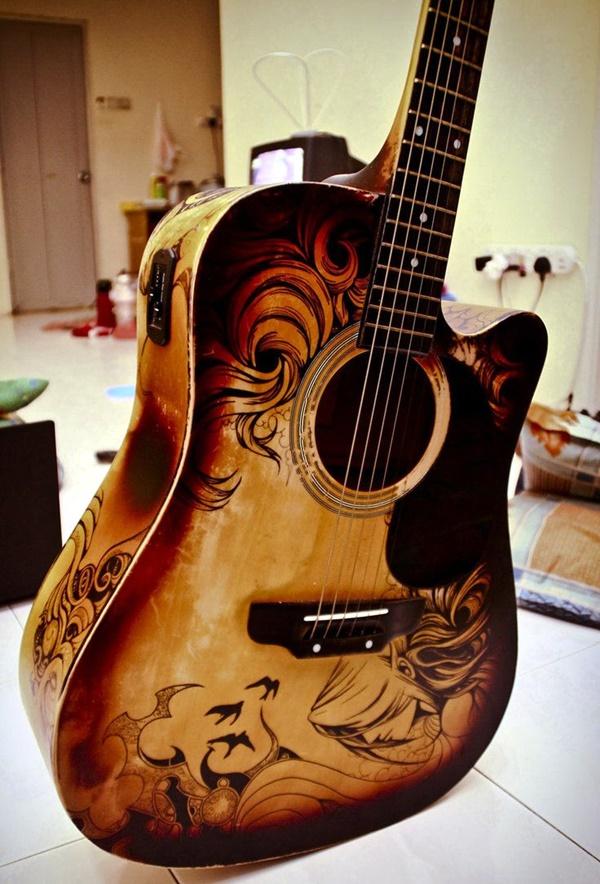 Beautiful and Creative Guitar Artworks (1)