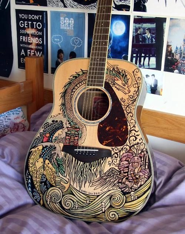 Beautiful and Creative Guitar Artworks (30)