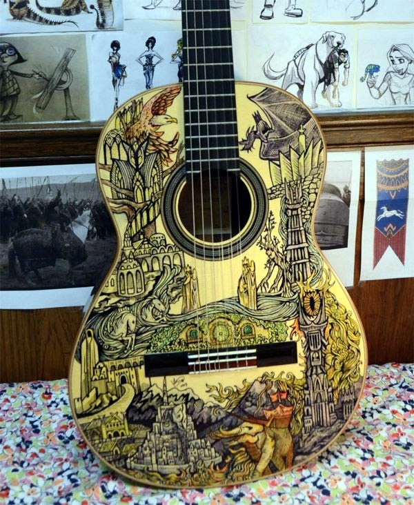 Beautiful and Creative Guitar Artworks (33)