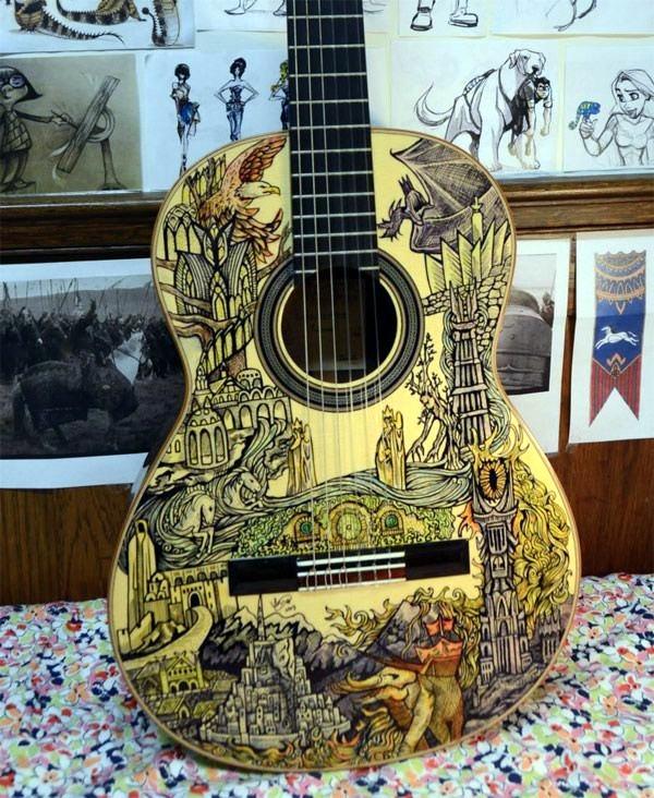 Beautiful and Creative Guitar Artworks (33)