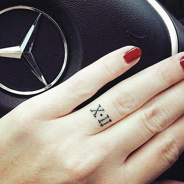 Cool and Classic Roman Numerals tattoo to get this Year (17)