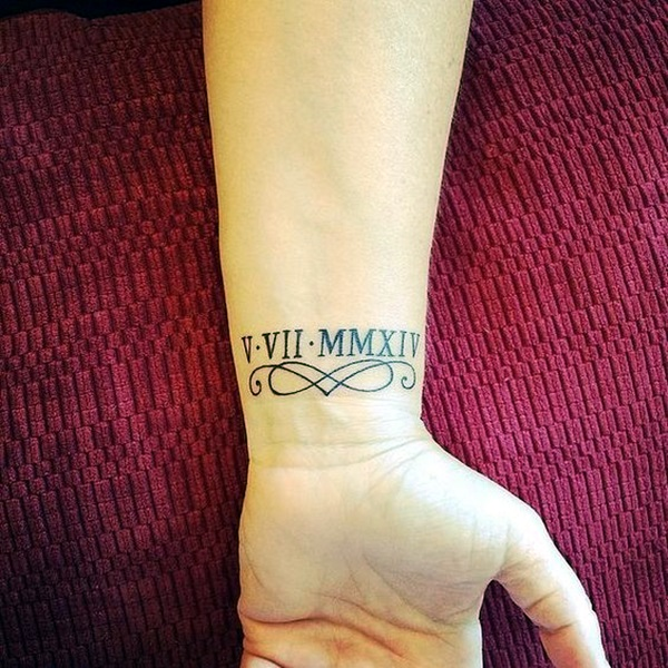 Cool and Classic Roman Numerals tattoo to get this Year (42)