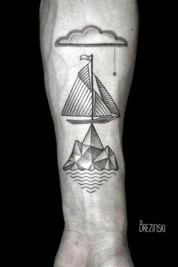 Cute and Meaningful Boat Tattoo Designs (10)