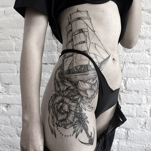 Cute and Meaningful Boat Tattoo Designs (13)