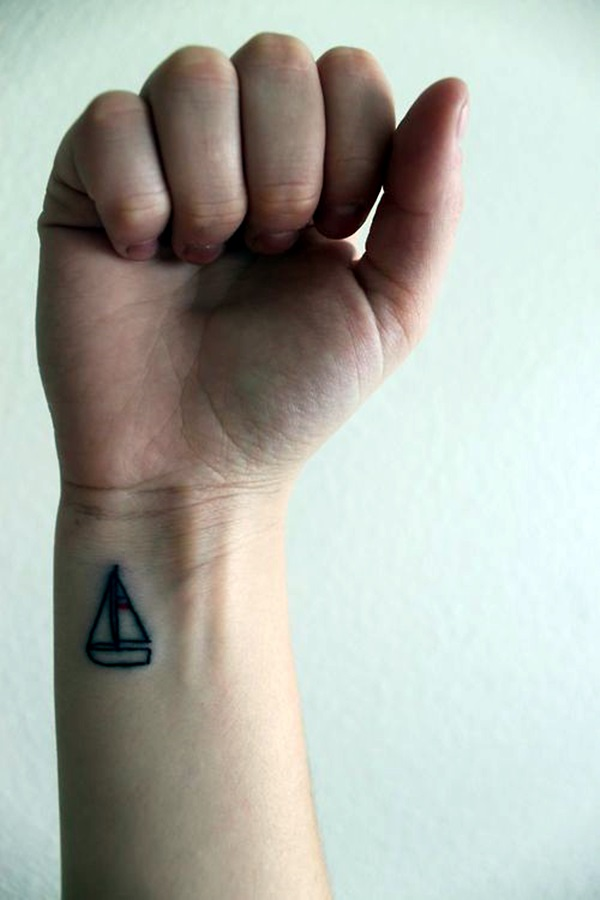 Cute and Meaningful Boat Tattoo Designs (16)