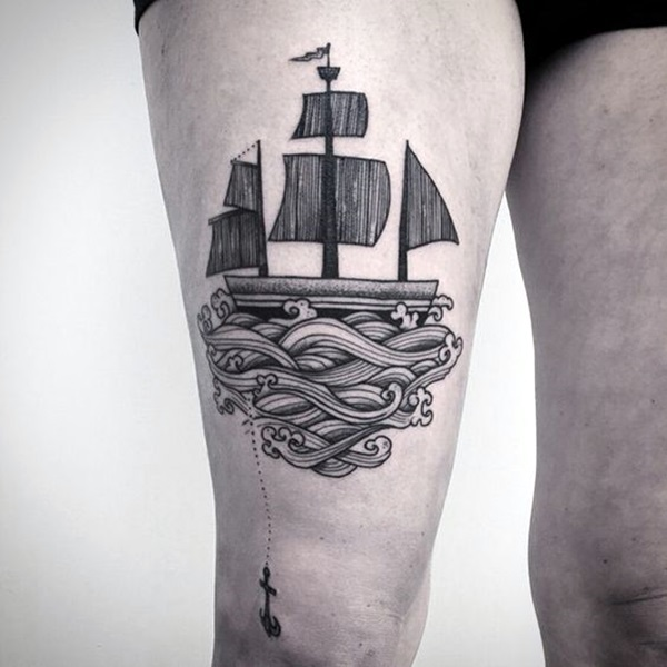 Cute and Meaningful Boat Tattoo Designs (18)