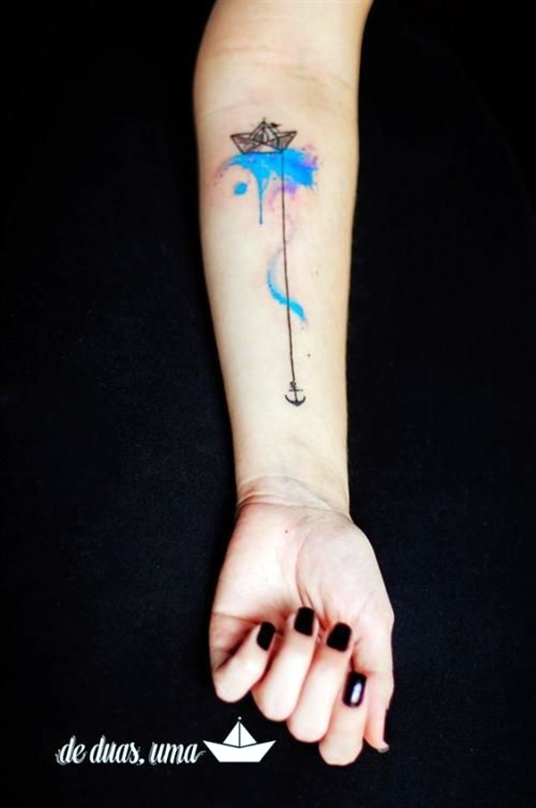 Cute and Meaningful Boat Tattoo Designs (2)
