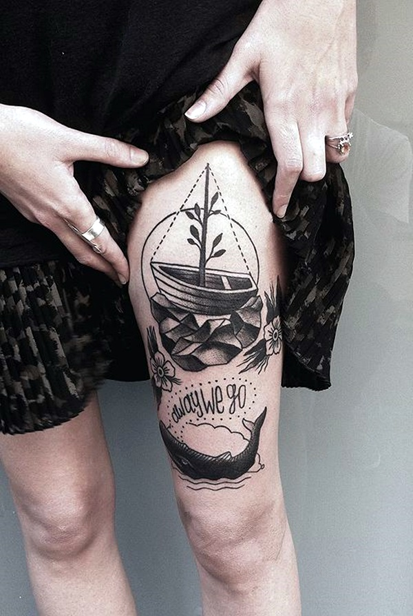 Cute and Meaningful Boat Tattoo Designs (22)