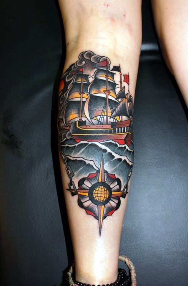 Cute and Meaningful Boat Tattoo Designs (25)