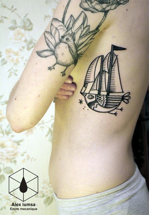 Cute and Meaningful Boat Tattoo Designs (27)