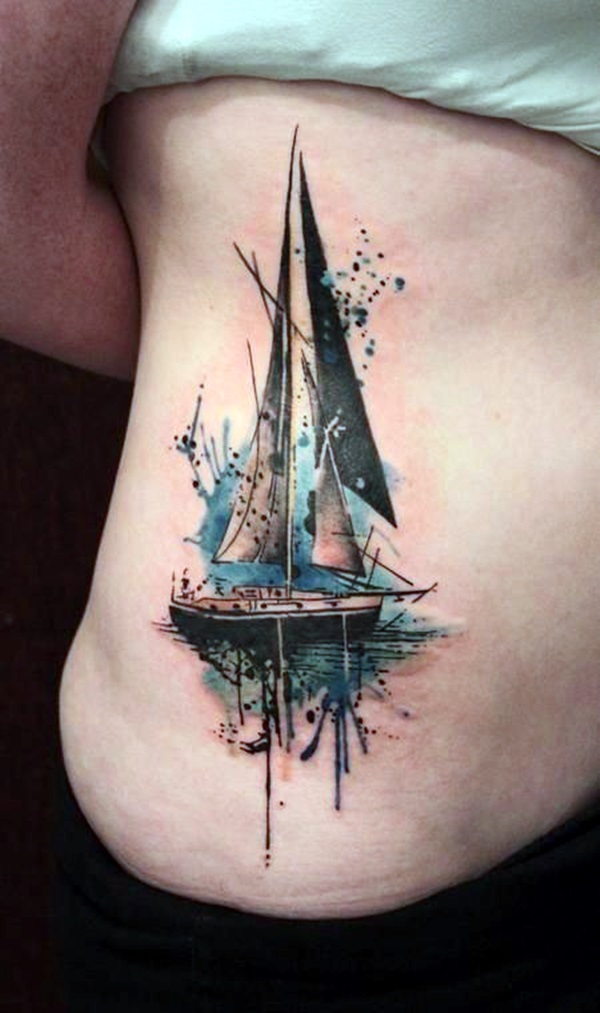 Cute and Meaningful Boat Tattoo Designs (28)
