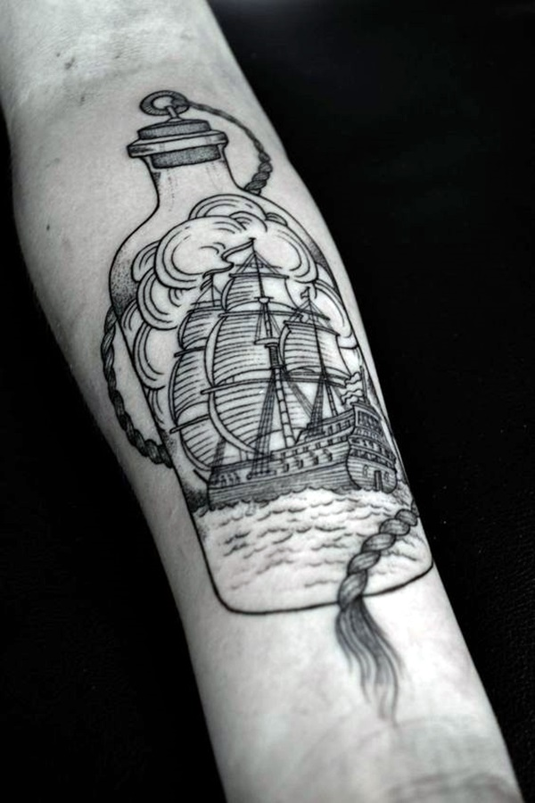 Cute and Meaningful Boat Tattoo Designs (3)