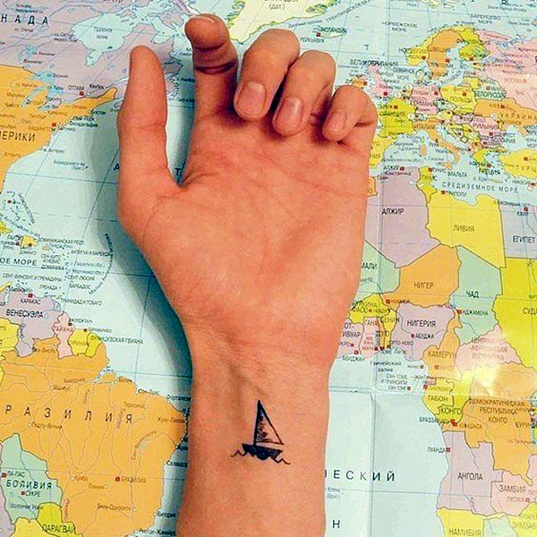 Cute and Meaningful Boat Tattoo Designs (31)