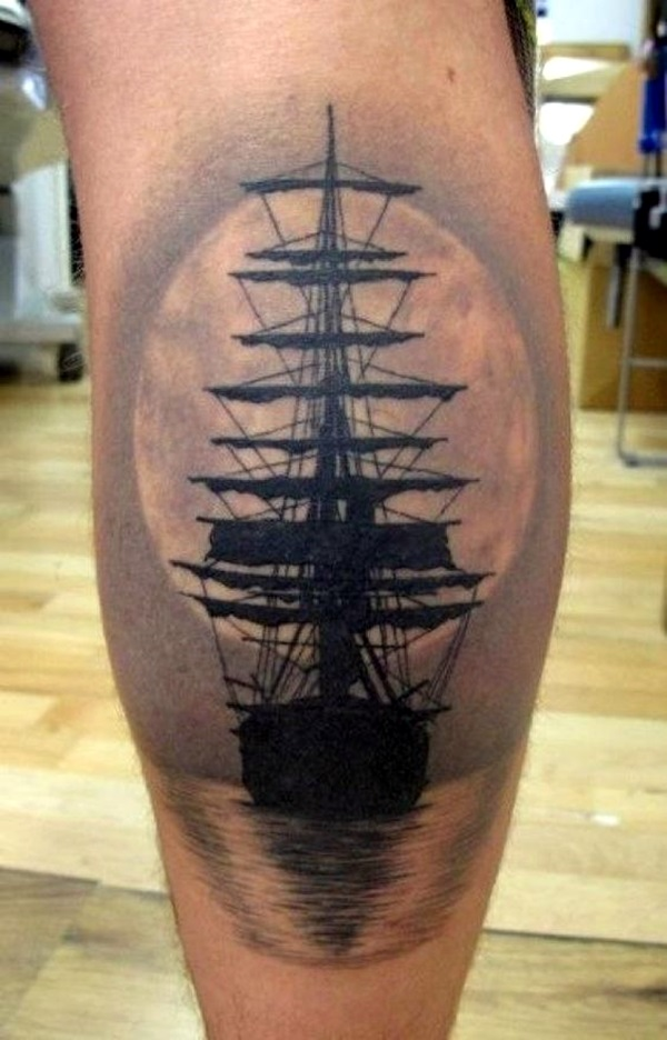 Cute and Meaningful Boat Tattoo Designs (33)
