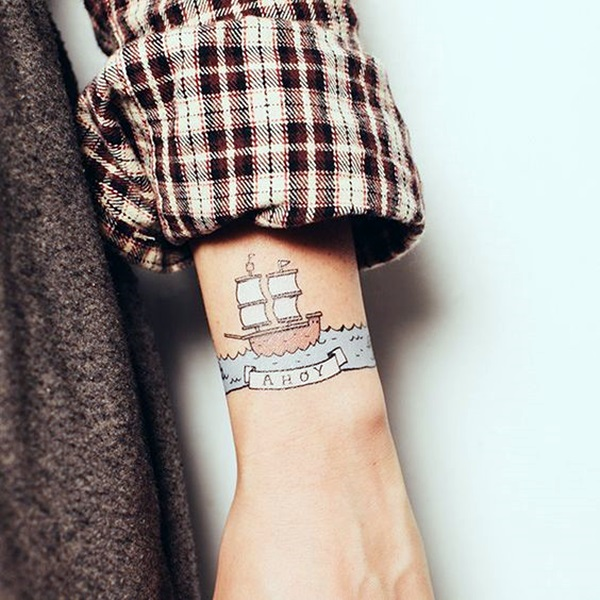 Cute and Meaningful Boat Tattoo Designs (38)
