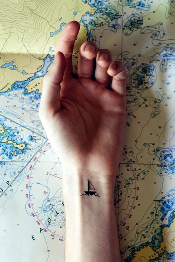 Cute and Meaningful Boat Tattoo Designs (39)
