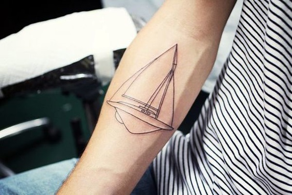 Cute and Meaningful Boat Tattoo Designs (44)