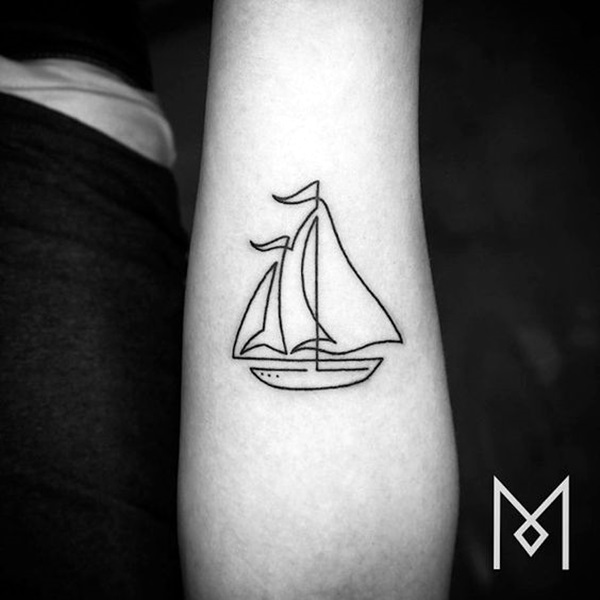 Cute and Meaningful Boat Tattoo Designs (45)