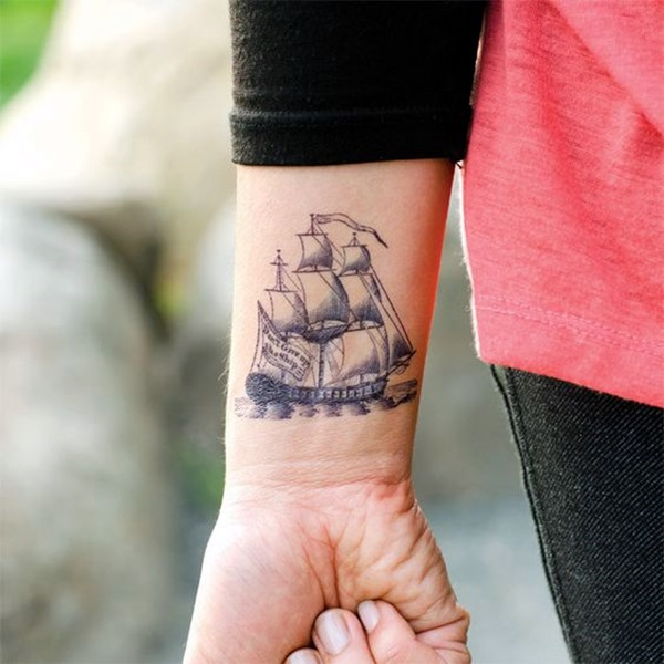 Cute and Meaningful Boat Tattoo Designs (46)